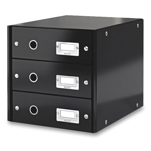 Zásuvkový box Leitz Click & Store 3 zásuvky, černý