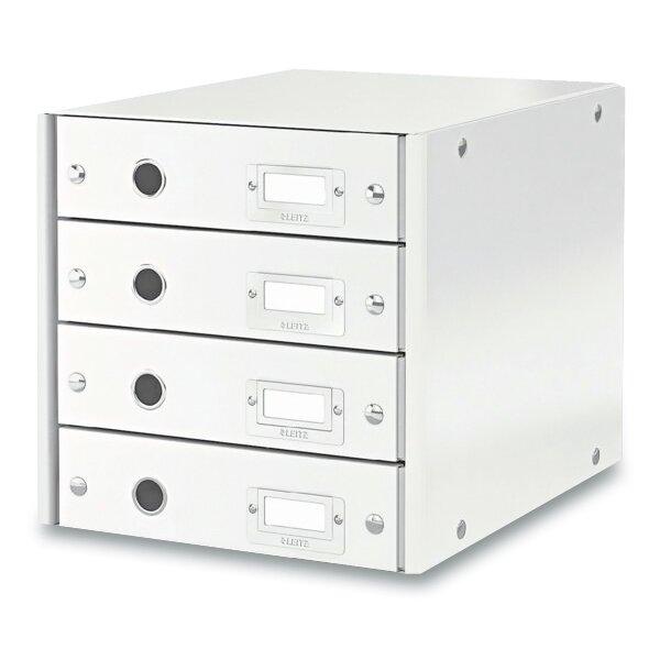 Zásuvkový box Leitz Click & Store 4 zásuvky, bílý