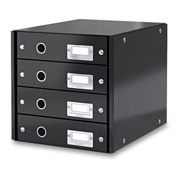 Zásuvkový box Leitz Click & Store 4 zásuvky, černý