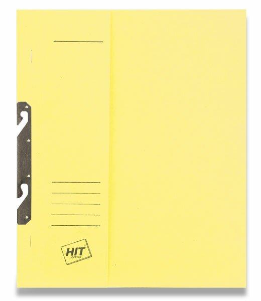 Rychlovazač závěsný papírový půlený HIT Office žlutý