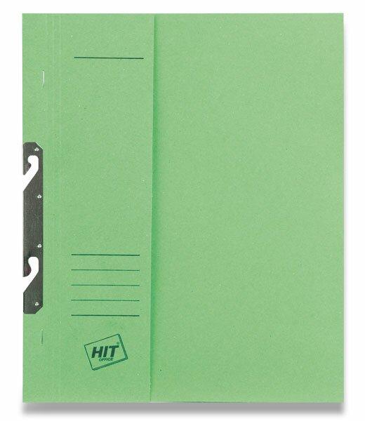 Rychlovazač závěsný papírový půlený HIT Office zelený