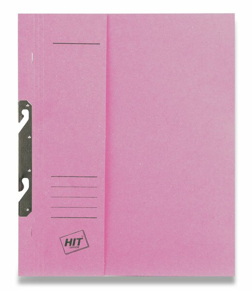 Rychlovazač závěsný papírový půlený HIT Office růžový