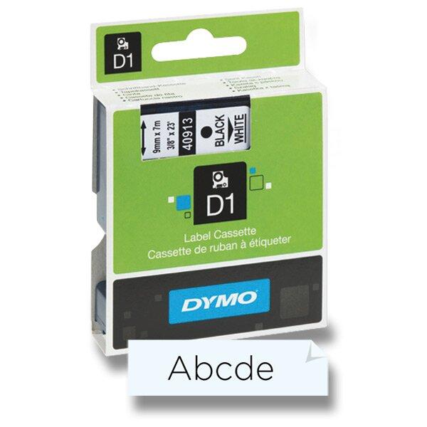 Polyesterová páska Dymo D1 9 mm x 7 m, černý tisk / transparentní páska