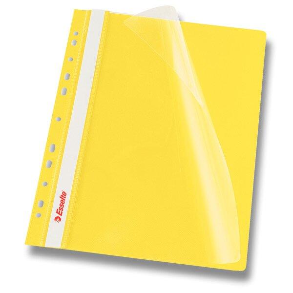 Plastový závěsný rychlovazač Esselte žlutý