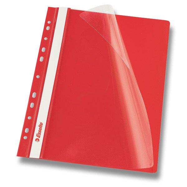 Plastový závěsný rychlovazač Esselte červený