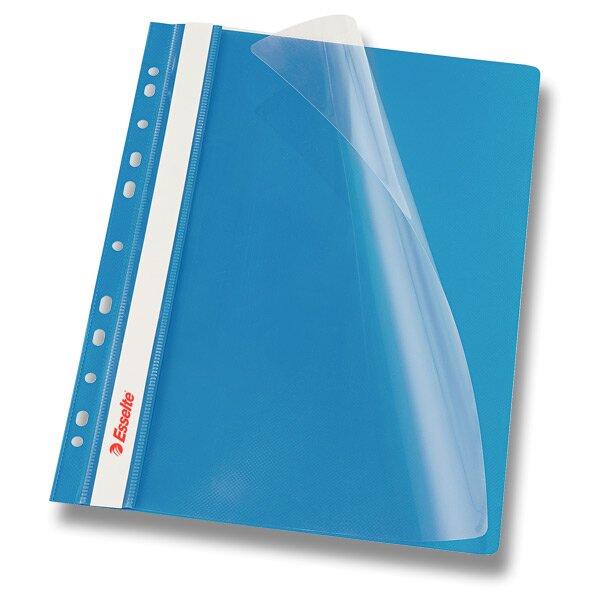 Plastový závěsný rychlovazač Esselte modrý