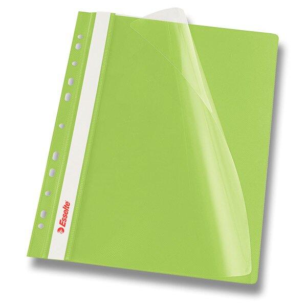 Plastový závěsný rychlovazač Esselte zelený