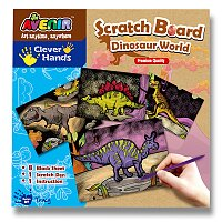 Vyškrábej si obrázek - dinosauři