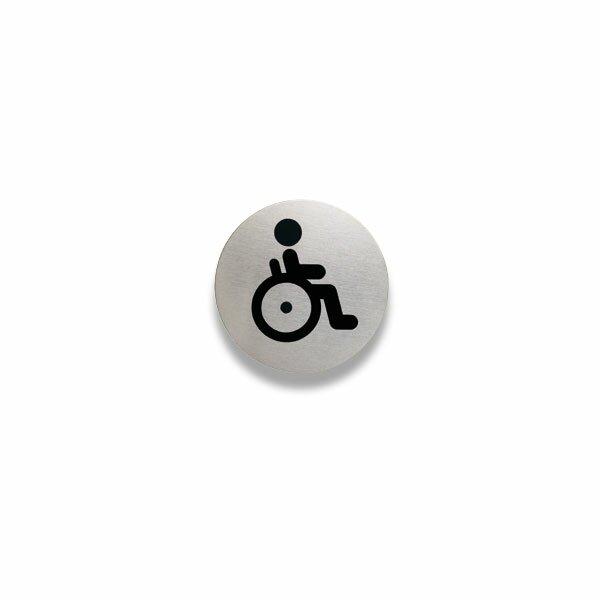 """Piktogram Durable Picto """"""""WC pro tělesně postižené"""""""" průměr 83 mm"""