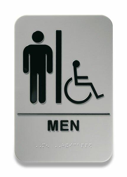 """Piktogram Durable Picto Braille """"""""pánské WC / pro tělesně postižené"""""""" 152 x 228 mm"""