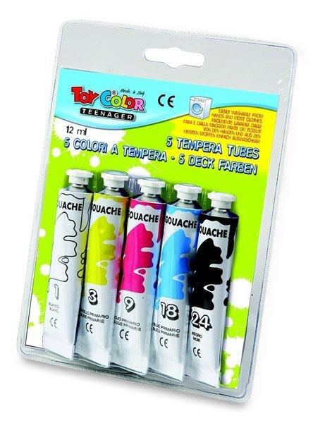Temperové barvy Toy Color 5 barev, tuba 12 ml