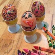 Vajíčka malovaná voskovkami