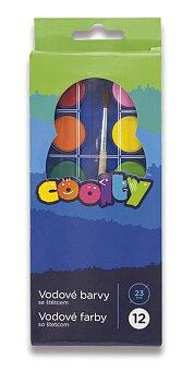 Obrázek produktu Vodové barvy Coolty - 12 barev, průměr 23 mm
