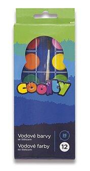 Obrázek produktu Vodové barvy Coolty - 12 barev, průměr 28 mm