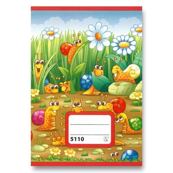 Školní sešit 5110 A5, čtverečkovaný, 10 listů