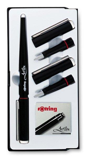 Sada kaligrafických per Rotring Art Pen Calligraphy hroty o šíři 1,5, 1,9 a 2,3 mm