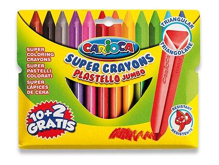 Obrázek produktu Plastové pastely Carioca Plastello Jumbo - 12 barev