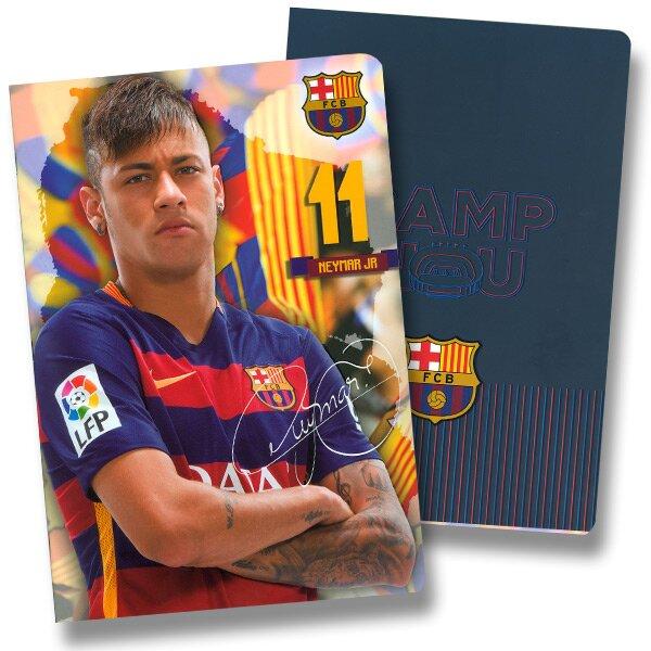 Školní sešit FCB Barcelona A4, linkovaný, 40 listů, mix motivů