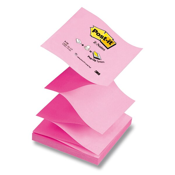 Samolepicí Z-bločky 3M Post-it R-330-N 76 x 76 mm, 100 listů, růžový