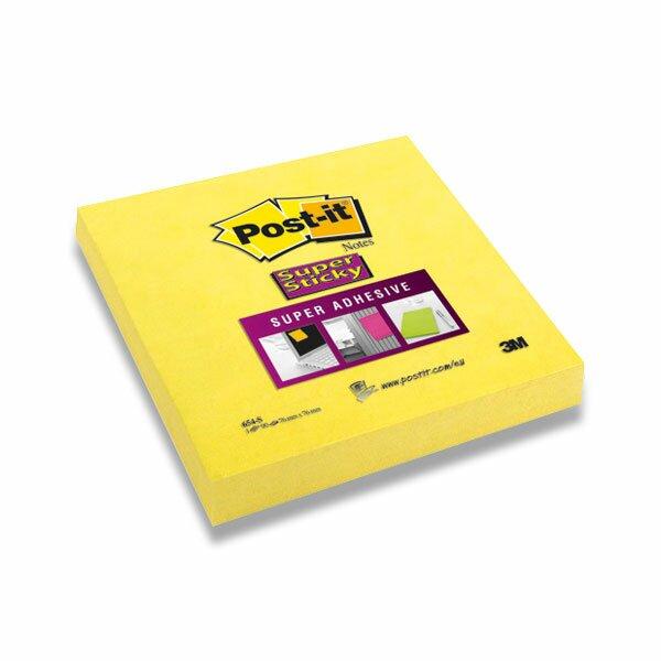 Samolepicí bloček 3M Post-it Super Sticky 654 76×76 mm, 90 listů