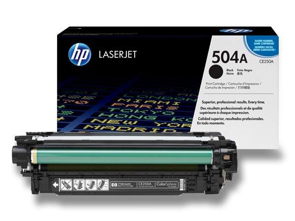 Toner HP CE250A č. 504A pro laserové barevné tiskárny black (černý)