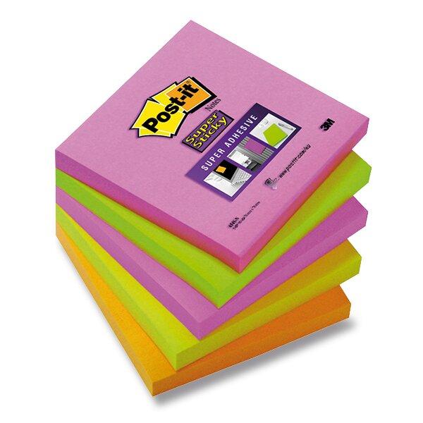 Samolepicí bloček Post-it Super Sticky Super Adhesive 76 × 76 mm, 5x 90 listů