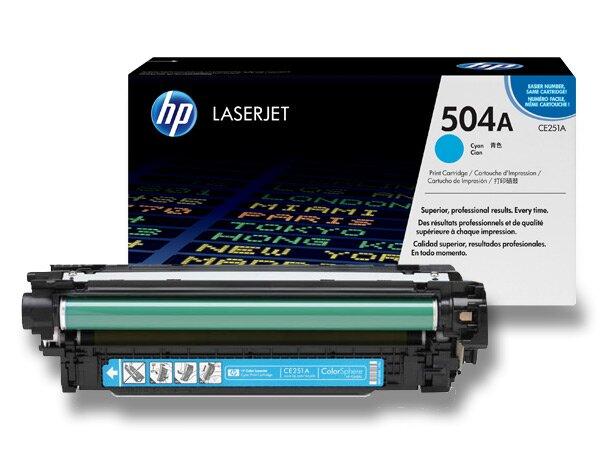 Toner HP CE251A č. 504A pro laserové barevné tiskárny cyan (modrý)