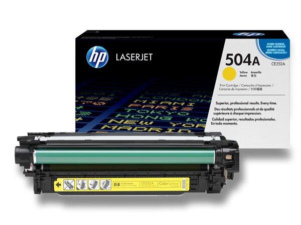 Toner HP CE252A č. 504A pro laserové barevné tiskárny yellow (žlutý)
