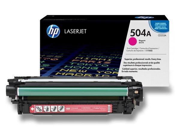 Toner HP CE253A č. 504A pro laserové barevné tiskárny magenta (červený)