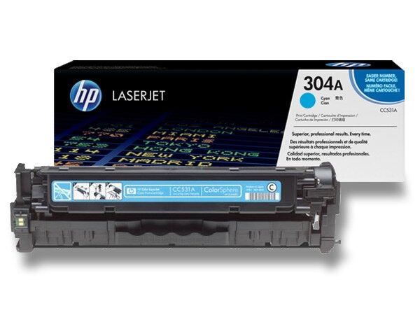 Toner HP CC531A č. 304A pro laserové barevné tiskárny cyan (modrý)