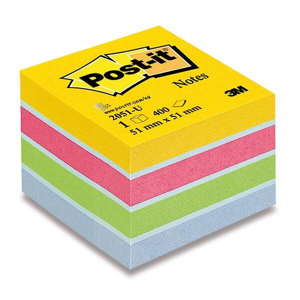 Samolepicí bloček 3M Post-it 2051L/2051P Duha 51 x 51 mm, 400 listů, ultra barvy