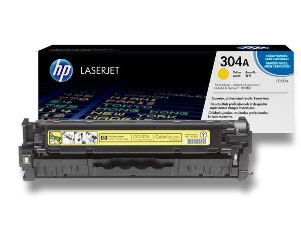 Toner HP CC532A č. 304A pro laserové barevné tiskárny yellow (žlutý)