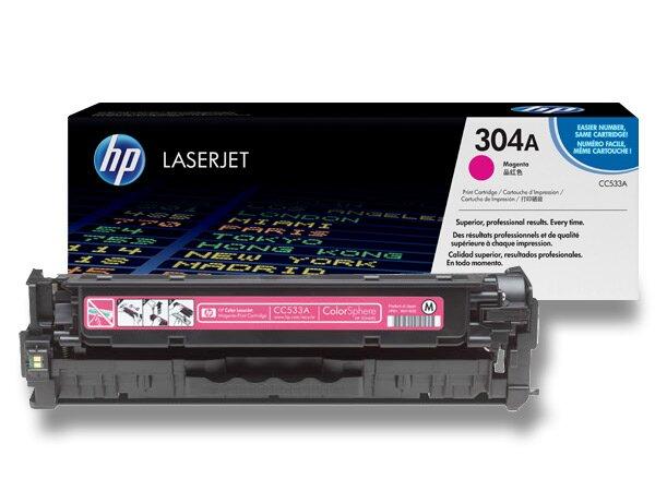 Toner HP CC533A č. 304A pro laserové barevné tiskárny magenta (červený)