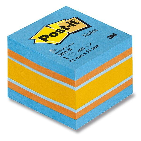 Samolepicí bloček 3M Post-it 2051L/2051P Duha 51 x 51 mm, 400 listů, modrý