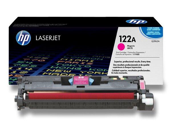 Toner HP Q3963A č. 122A pro laserové barevné tiskárny magenta (červený)