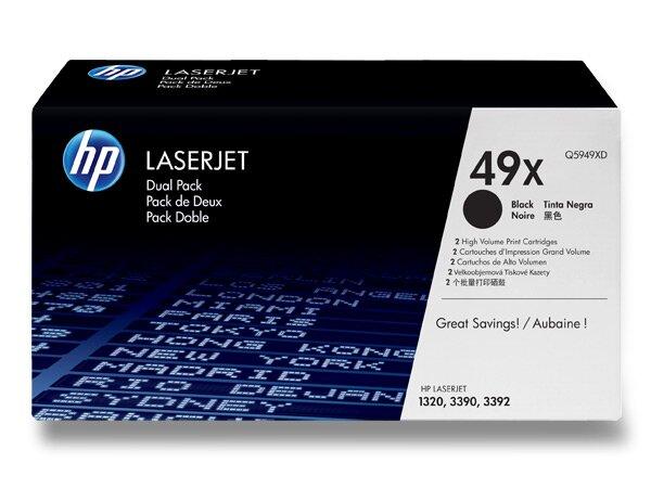 Toner HP Q5949XD dual pack pro laserové černobílé tiskárny 2 x Q5949X