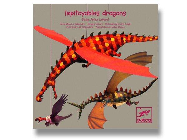 Závěsná dekorace Djeco - Létající draci