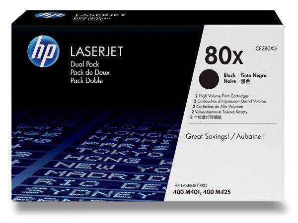 Toner HP CF280XD dual pack pro laserové tiskárny 2 x CF280X