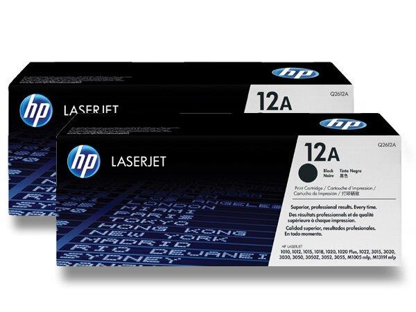 Toner HP Q2612AD dual pack pro laserové černobílé tiskárny 2 x Q2612A