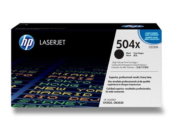 Toner HP CE250X č. 504X pro laserové barevné tiskárny black (černý)