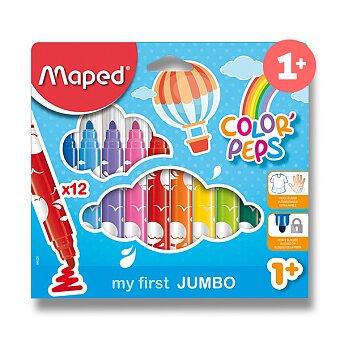 Obrázek produktu Dětské fixy Maped Color'Peps Jumbo - 12 barev