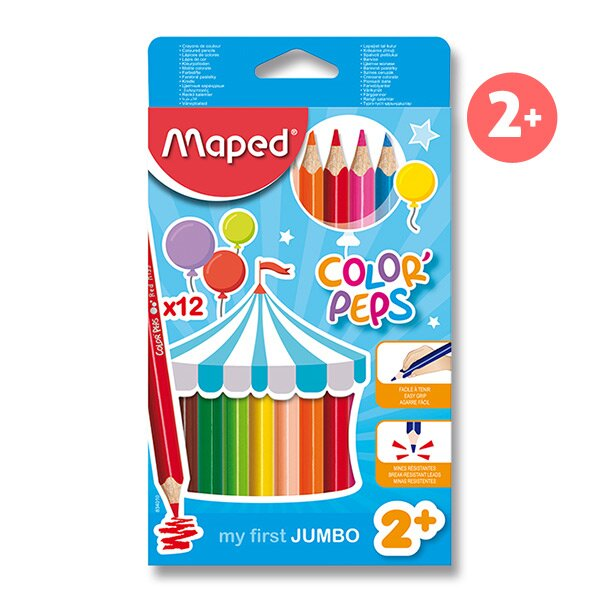 Pastelky Maped Color'Peps Jumbo 12 barev