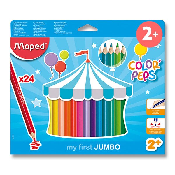 Pastelky Maped Color'Peps Jumbo 24 barev