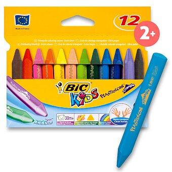 Obrázek produktu Voskové pastely Bic Kids Plastidecor Triangle - 12 barev, trojhranné