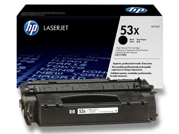 Toner HP Q7553X č. 53X pro laserové tiskárny black (černý)