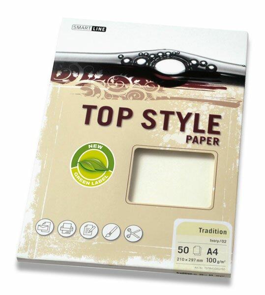 Kancelářský papír Top Style Paper Tradition A4, 50 archů, bílý papír