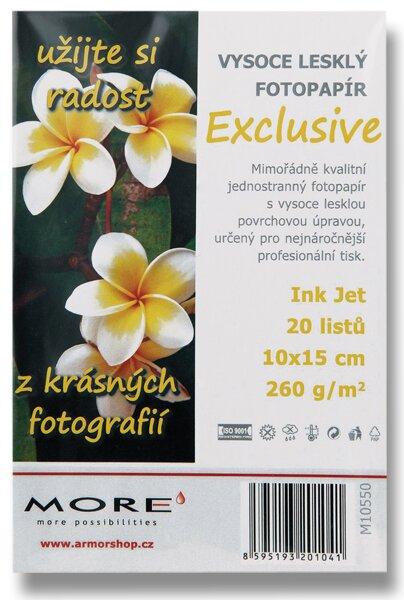 Fotopapír More Exclusive 10 x 15 cm, 260 g, 20 listů