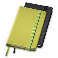 Rainbow S - linkovaný zápisník s gumičkou, výběr barev