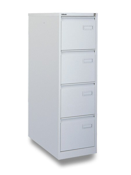 Kartotéka Bisley IPCAA 4 zásuvky, 1321 x 413 x 622 mm, šedá