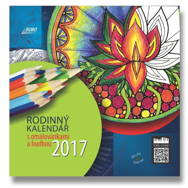 Rodinný kalendář s omalovánkami a hudbou 2017